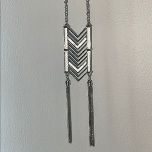 Long Silver GUESS Necklace